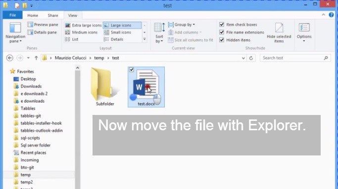 Tabbles Explorer Integration