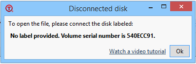 Tabbles disconnected disk