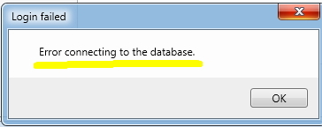 Error connecting to the database