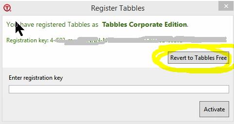 revert to tabbles free
