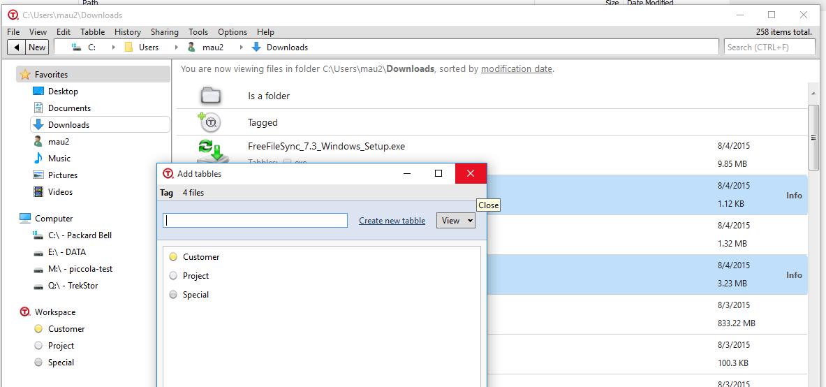 Tabbles on Windows 10
