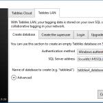 Tabbles 4 on Microsoft SQL LocalDB