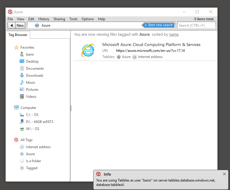 tabbles runs on azure file tagging document management With document management system azure