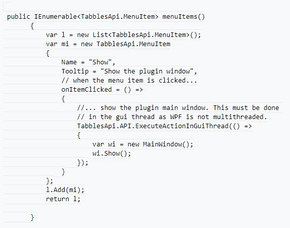 Tabble 4 API