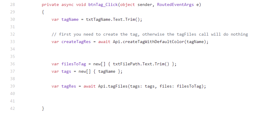 API and Plugins for tagging files