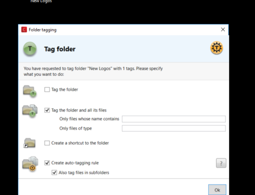 Auto-tagging folders in 7 clicks